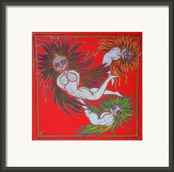 Angels At Play Framed Print By Lyn Blore Dufty