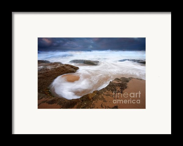 Angry Sea Framed Print By Mike  Dawson