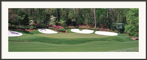 Augusta National Golf Club Hole 13 Azalea Framed Print By Phil Reich