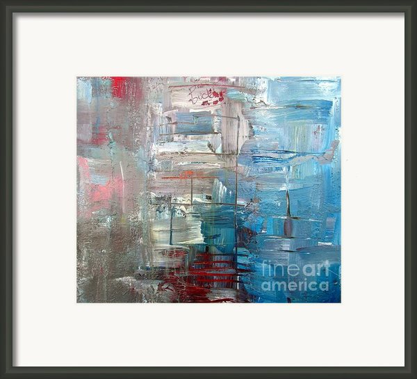 Azzuro Blue Framed Print By Brian Buckley