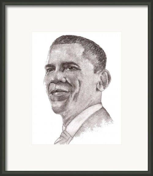 Barack Obama Framed Print By Nan Wright
