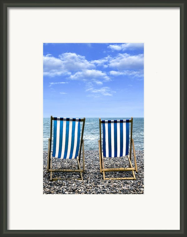 Beach Chairs Framed Print By Joana Kruse