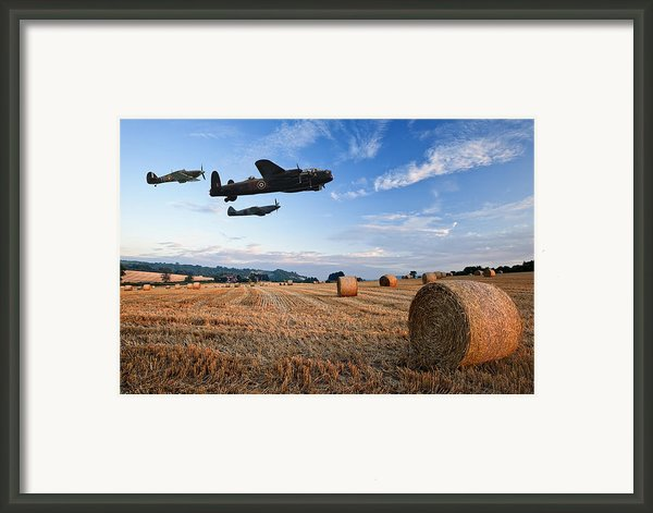 Beautiful Golden Hour Hay Bales Sunset Landscape Framed Print By Matthew Gibson