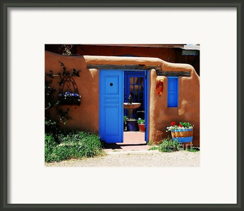 Behind A Blue Door 1 Framed Print By Mel Steinhauer