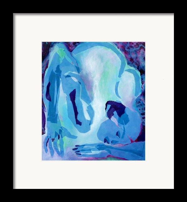 Blue Nude Framed Print By Diane Fine