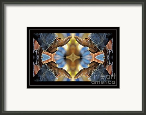 Boots Kaleidoscope Framed Print By Joan Carroll
