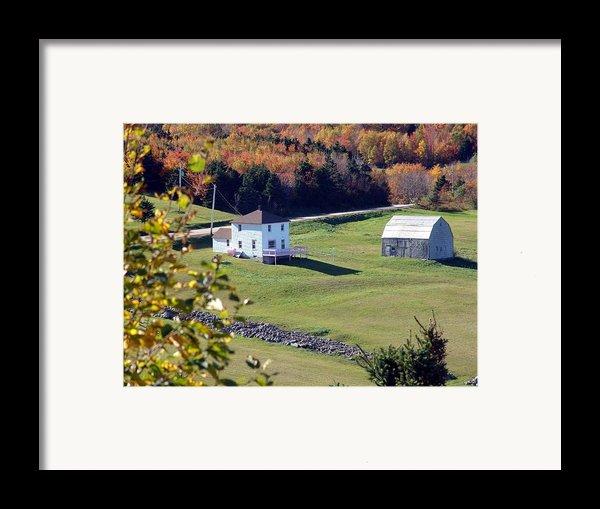 Capstick Village Framed Print By George Cousins