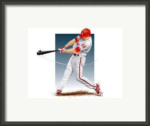 Chase Utley Framed Print By Scott Weigner