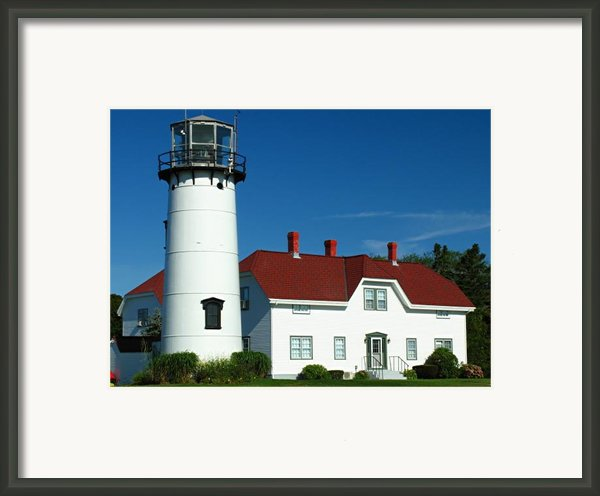 Chatham Lighthouse Framed Print By Juergen Roth