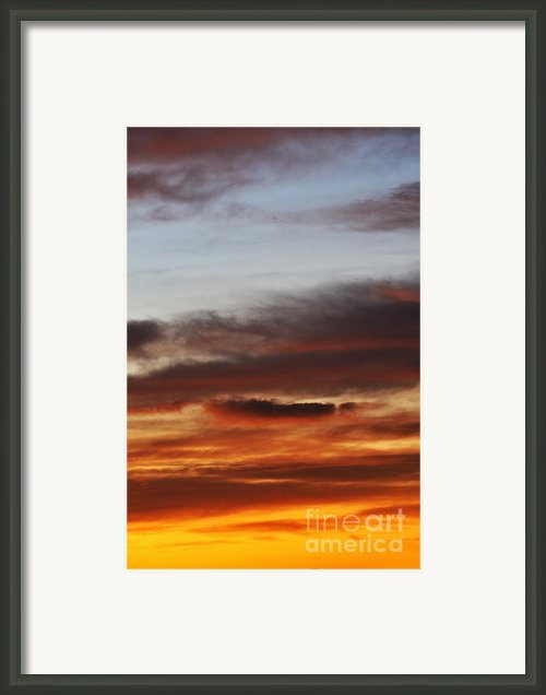 Cloudscape At Sunrise Framed Print By Sami Sarkis