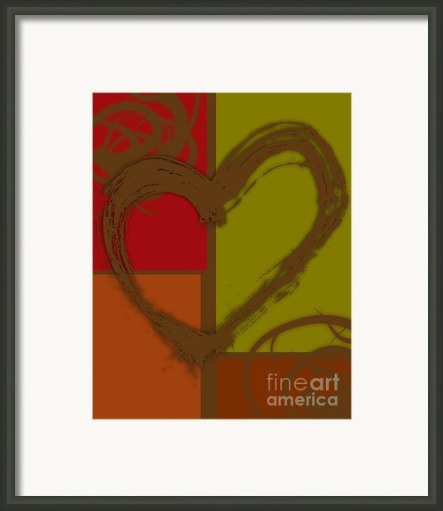 Colorful Love Framed Print By Lj Lambert