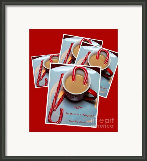 Cup Of Christmas Cheer - Candy Cane - Candy - Irish Cream Liquor Framed Print By Barbara Griffin