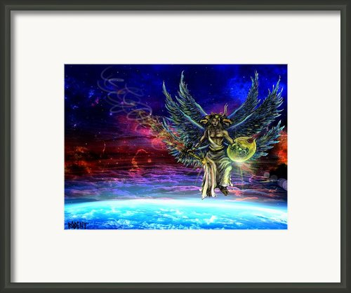 Descending Seraphim Framed Print By Michael Schneider