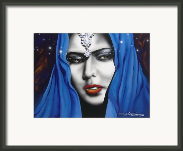 Desert Moon Framed Print By Alicia Hayes