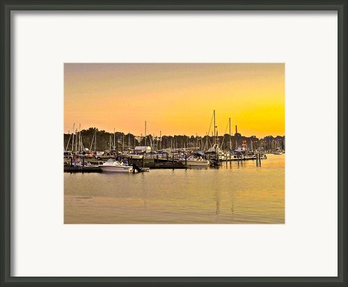 Dock Of The Bay Framed Print By Robert Harmon