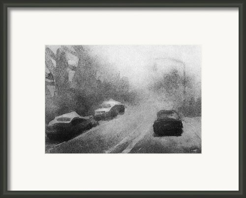 Driving Framed Print By Steve Dininno
