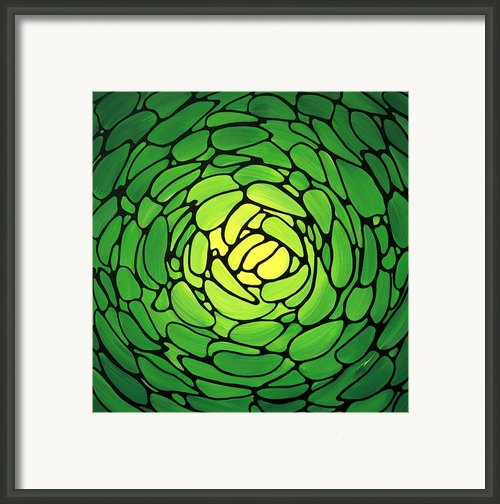 Emerald Heaven Framed Print By Sharon Cummings