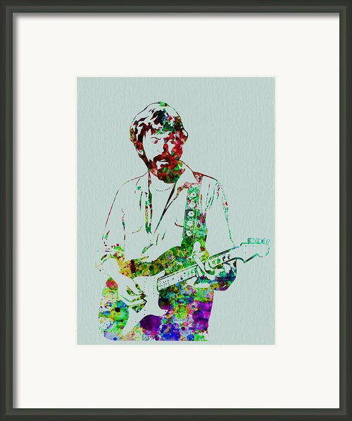 Eric Clapton Framed Print By Irina  March