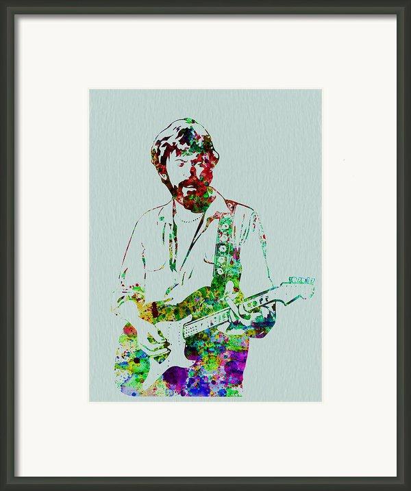 Eric Clapton Framed Print By Irina  March