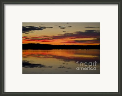 Evening Sky Framed Print By Heiko Koehrer-wagner