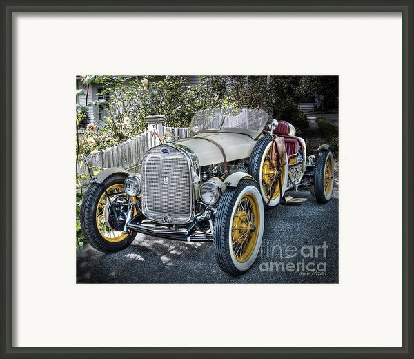 Ford Roadster Framed Print By Louise Reeves