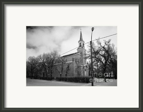 Former St Josephs Catholic Church In Forget Saskatchewan Canada Framed Print By Joe Fox