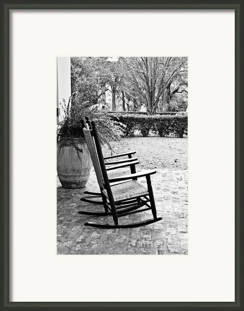 Front Porch Rockers Framed Print By Scott Pellegrin