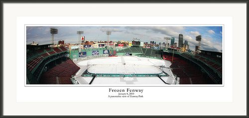 Frozen Fenway Framed Print By Kristopher Ventresco