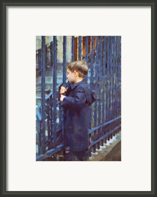 German Boy Framed Print By Chuck Staley