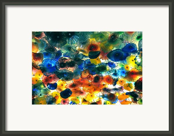 Glass Flowers Framed Print By Ernesto Cinquepalmi