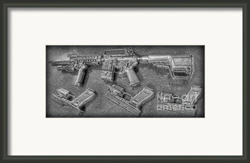Glock Framed Print By Lee Dos Santos
