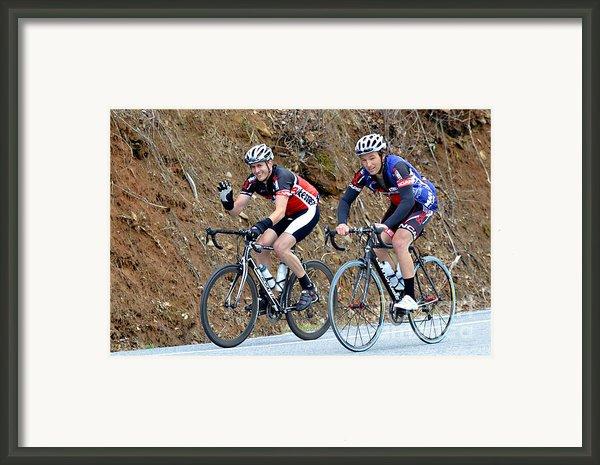 Gran Fondo Bike Ride Framed Print By Susan Leggett