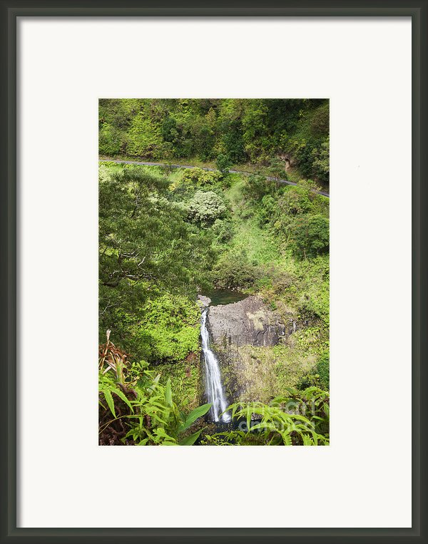 Hana Waterfall Framed Print By Jenna Szerlag
