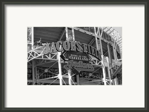 Jacobs Field - Cleveland Indians Framed Print By Frank Romeo