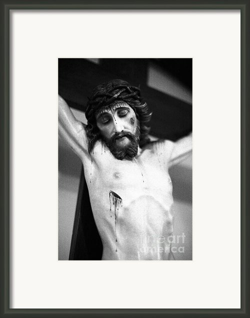 Jesus On The Cross Framed Print By Gaspar Avila