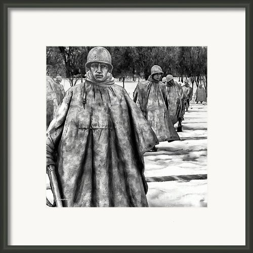 Korean War Memorial Washington Dc Framed Print By Nadine And Bob Johnston