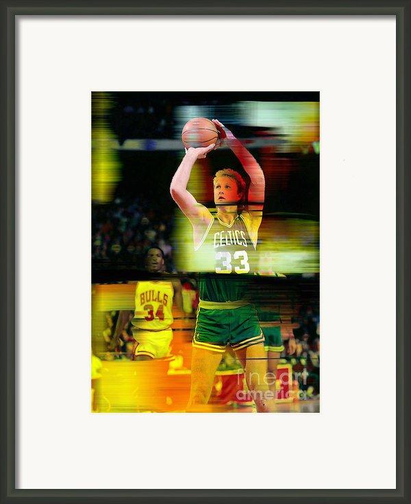 Larry Bird Framed Print By Marvin Blaine