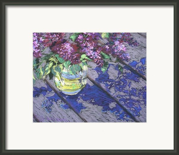 Lilacs Framed Print By Gloria  Nilsson
