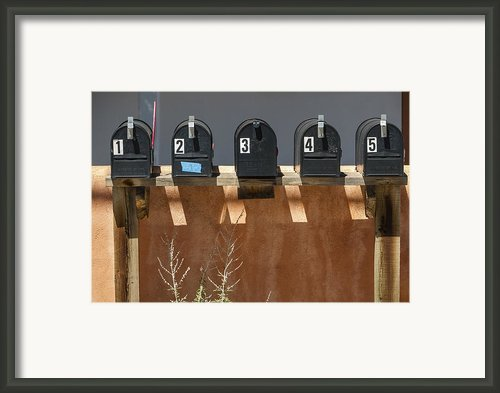 Mailboxes Santa Fe Nm Framed Print By David Litschel