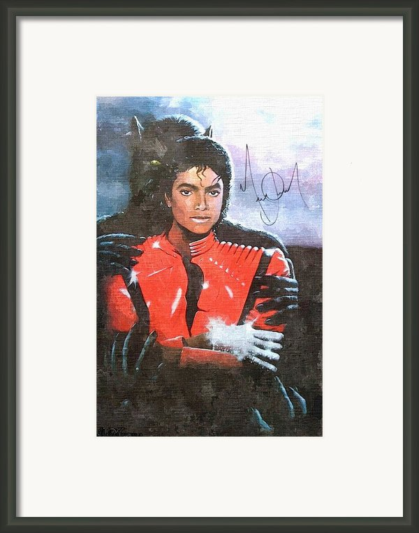 Michael Jackson Autographed Reprint Framed Print By J Nance