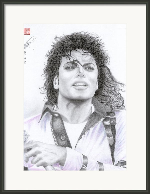 Michael Jackson - Bad Tour Framed Print By Eliza Lo