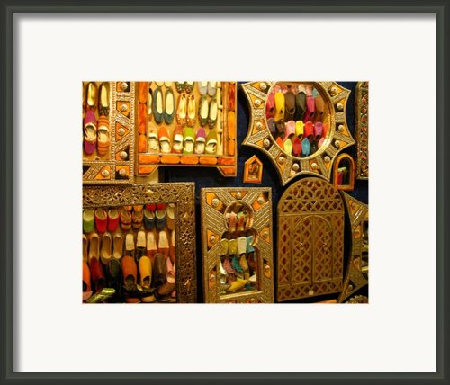 Mirrors With Reflected Slippers On The Opposite Side Framed Print By Artphoto-ralph A  Ledergerber-photography