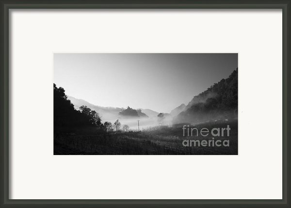Mist In The Valley Framed Print By Setsiri Silapasuwanchai