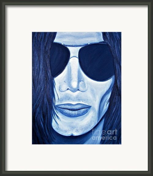 Mj In Shades Framed Print By Tina Grimes