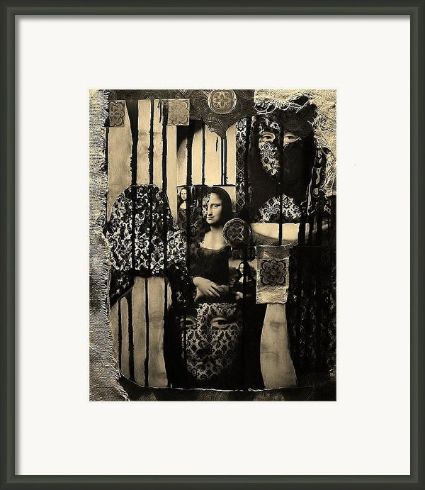 Mona Lisa Framed Print By Michael Kulick