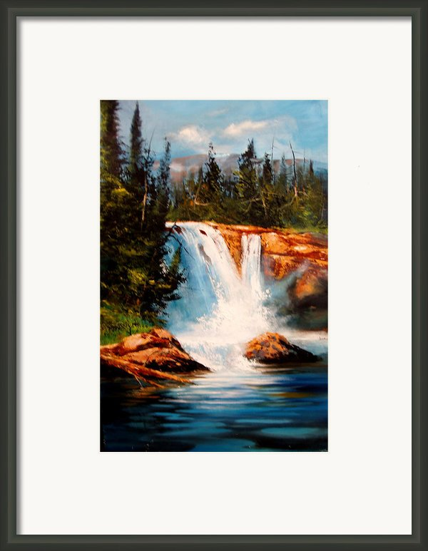 Mountain Falls Framed Print By Robert Carver