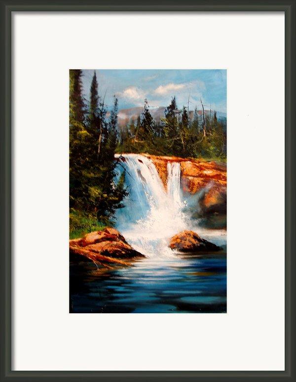 Mountain Falls Framed Print By Robert Carver