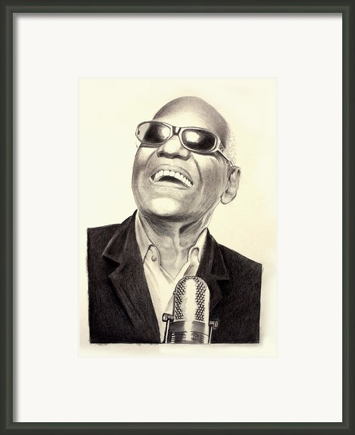 Mr. Ray Charles Framed Print By Ted Castor