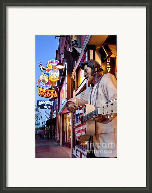 Music City Usa Framed Print By Brian Jannsen