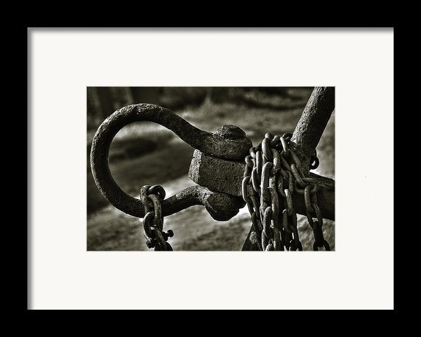 Old Rusty Anchor Framed Print By Erik Brede